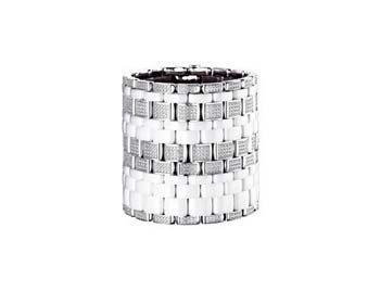 Керамические ювелирные изделия от Шанель - Chanel: Белый керамический браслет