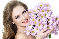Подбираем цветы по оттенку волос девушки