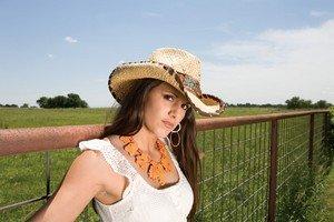 Женская соломенная шляпа в тренде весной 2013
