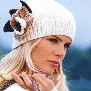 Модные вязанные шапки весной 2013