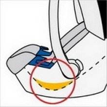 Ортопедический вкладыш на автомобильном кресле для новорожденных