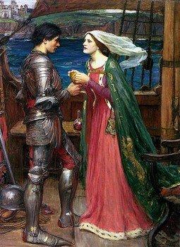 Картина Джона Уильяма Уотерхауса «Тристан и Изольда пьют любовный напиток»