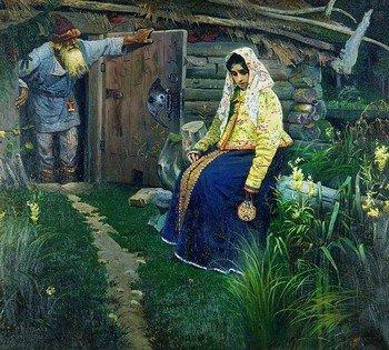 """Картина Михаила Нестерова """"За приворотным зельем"""""""