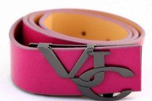 Модный розовый женский ремень от Versace
