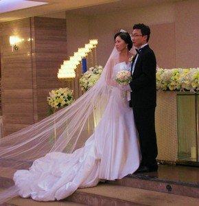 Платье корейской невесты на церемонии бракосочетания