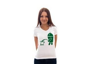 Модная футболка эппл-самсунгового направления