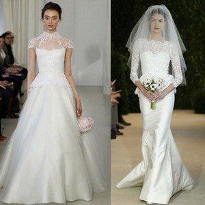 Свадебное платье с рукавами различной длины