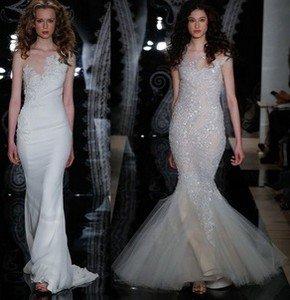 Свадебное платье в вечернем стиле