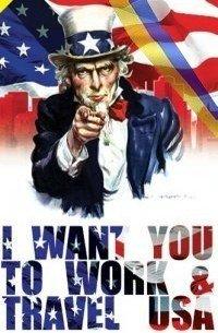 Агитационный плакат программы Work and Travel USA