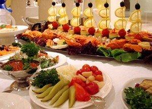 Вкусные закуски на свадебном застолье