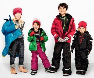 Модная зимняя детская одежда