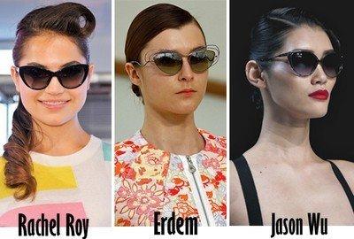 """Солнцезащитные очки в стиле """"кошачьи глаза"""""""