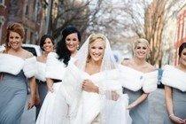 Что одеть на свадьбу зимой?