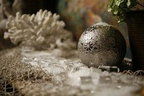 Новогодний интерьер - снежная карусель