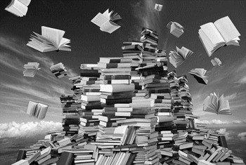 Скопление старых книг