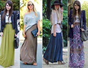 Верх и длинная юбка фото