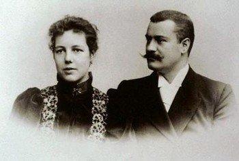 Основатель компании «Roche» Фриц Хоффманн с женой