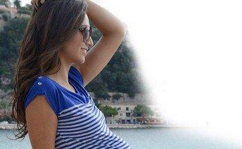 Модные горизонтальные полосы для беременных