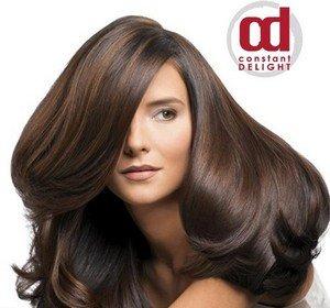 Прекрасные волосы с косметикой «Constant Delight»