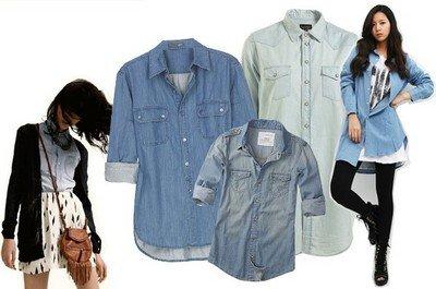 С чем можно комбинировать джинсовую рубашку?