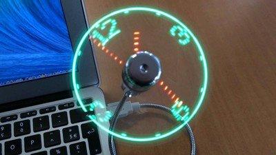 USB LED Fan Clock - вентилятор, часы и светильник в одном
