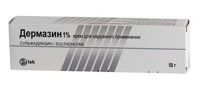 Дермазин - серебросодержащий антисептический препарат для лечения ожогов