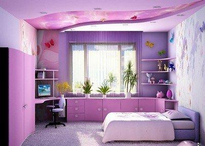 Вариант интерьера для детской комнаты для девочки