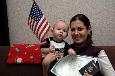 Ребенок, получивший гражданство США