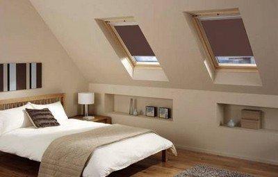 Оформления спальни в мансарде в современном стиле