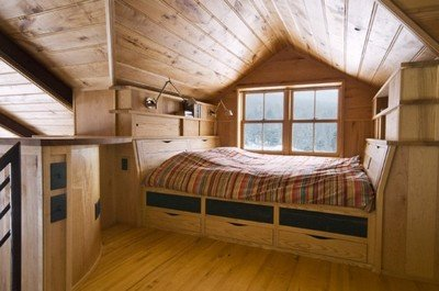 Как оформить спальню в мансарде