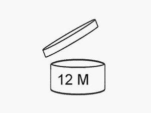 Открытая крышечка - символ срока годности косметики после вскрытия упаковки