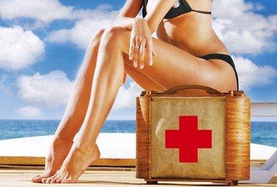 Какие средства первой помощи взять на отдых?