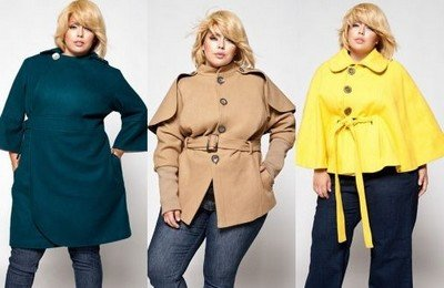Свободный фасон пальто - правильный выбор полных женщин