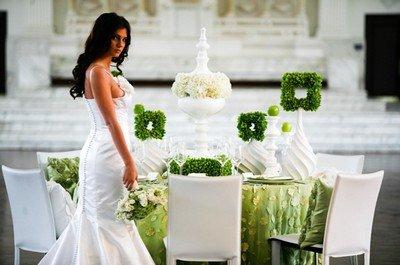 Проводим свадьбу 2014 в зеленом цвете