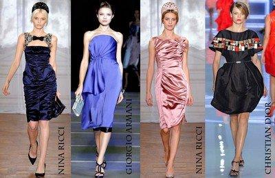 Модные коктейльные платья из шелка