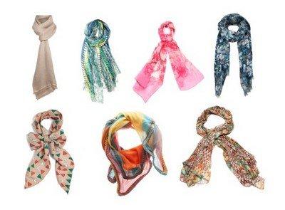 Материалы для шарфов на все сезоны