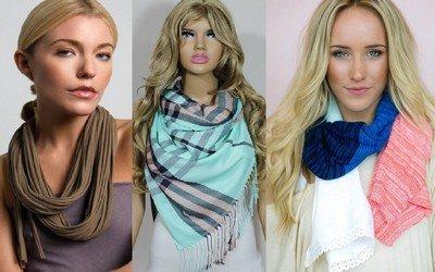 Выбираем модные женские шарфы, подходящие для всех сезонов
