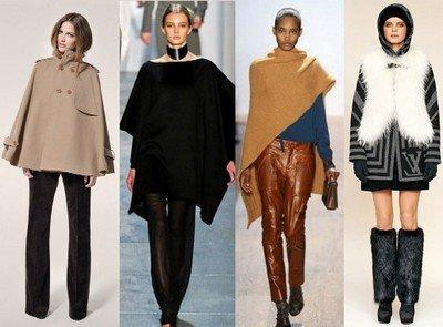 Женское пальто-пончо - стиль осень-зима 2014