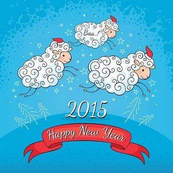 Украшение квартиры к Новому году 2015 - году синий Козы