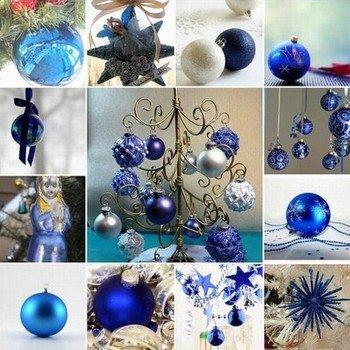 Украшения на Новый Год 2015 должны быть синего цвета, так как наступает год Синей Козы