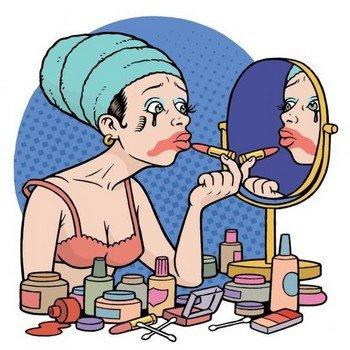 У женщин всегда огромное количество косметики