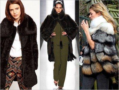 Шуба из длинного меха - мода зима 2014-2015