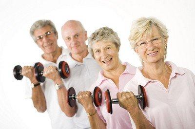Упражнения с тяжестями в пожилом возрасте крайне не желательны