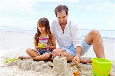 Песочный замок - лучшая постройка на природе