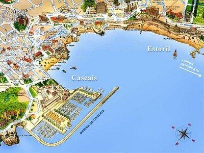 Карта элитного португальского курорта Эшторил