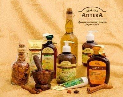 Косметика «Зеленая аптека» для ухода за кожей и волосами