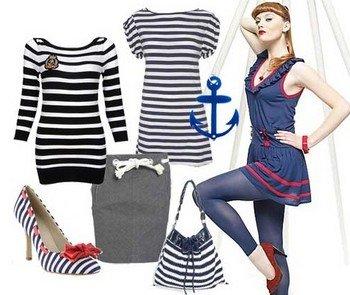 «Морская» одежда всегда придает молодости ее носительнице