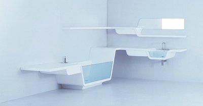 Вариант мебели для ванной комнаты «Ebb» от UsTogether
