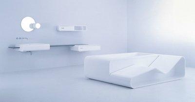 Вариант мебели для ванной комнаты «Loop» от UsTogether