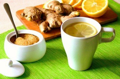 Имбирный чай с коричневым сахаром